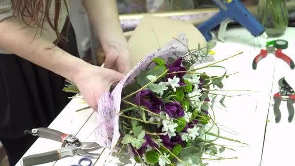 Virágüzlet a csomagolás a tulipán csokor