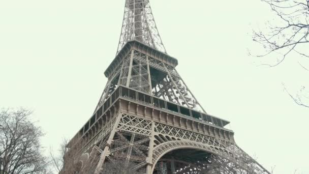 The Famous French Metal Eiffel Tower In Paris. European Romantic Symbol Of Love.
