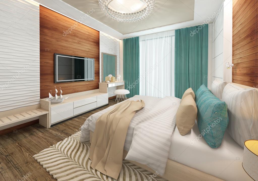 Tv in slaapkamer. elegant bedroom get a creative look in your
