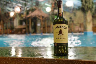 whiskey jameson on the bar