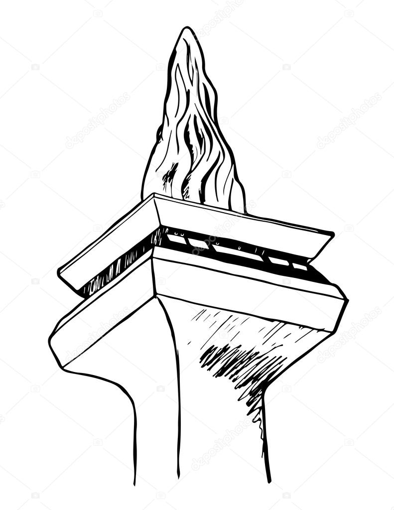 A Hand Drawn Vector Graphic Of Monumen Nasional Or Monas In Jakarta