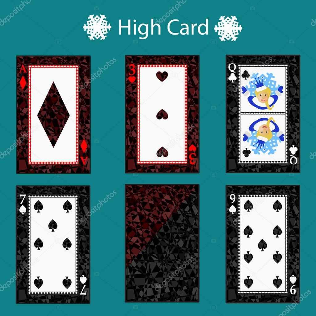 High Card Poker Hand Ranking Combinations Poker Cards Set Isolated Cards On Green Background Playing Cards Set Premium Vector In Adobe Illustrator Ai Ai Format Encapsulated Postscript Eps Eps Format