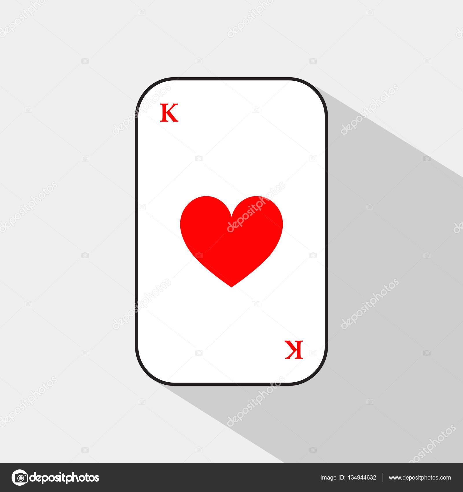 火かき棒カード。王心。白い背景...