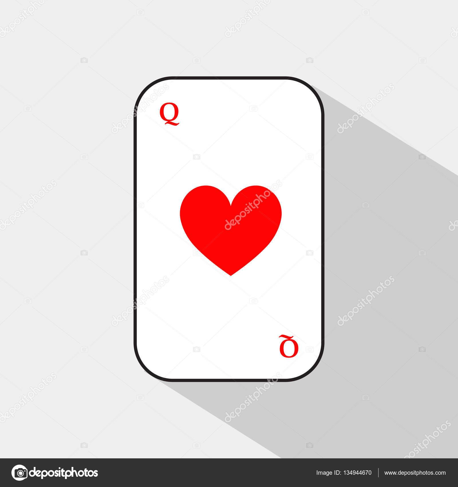 火かき棒カード。ハートの女王。...