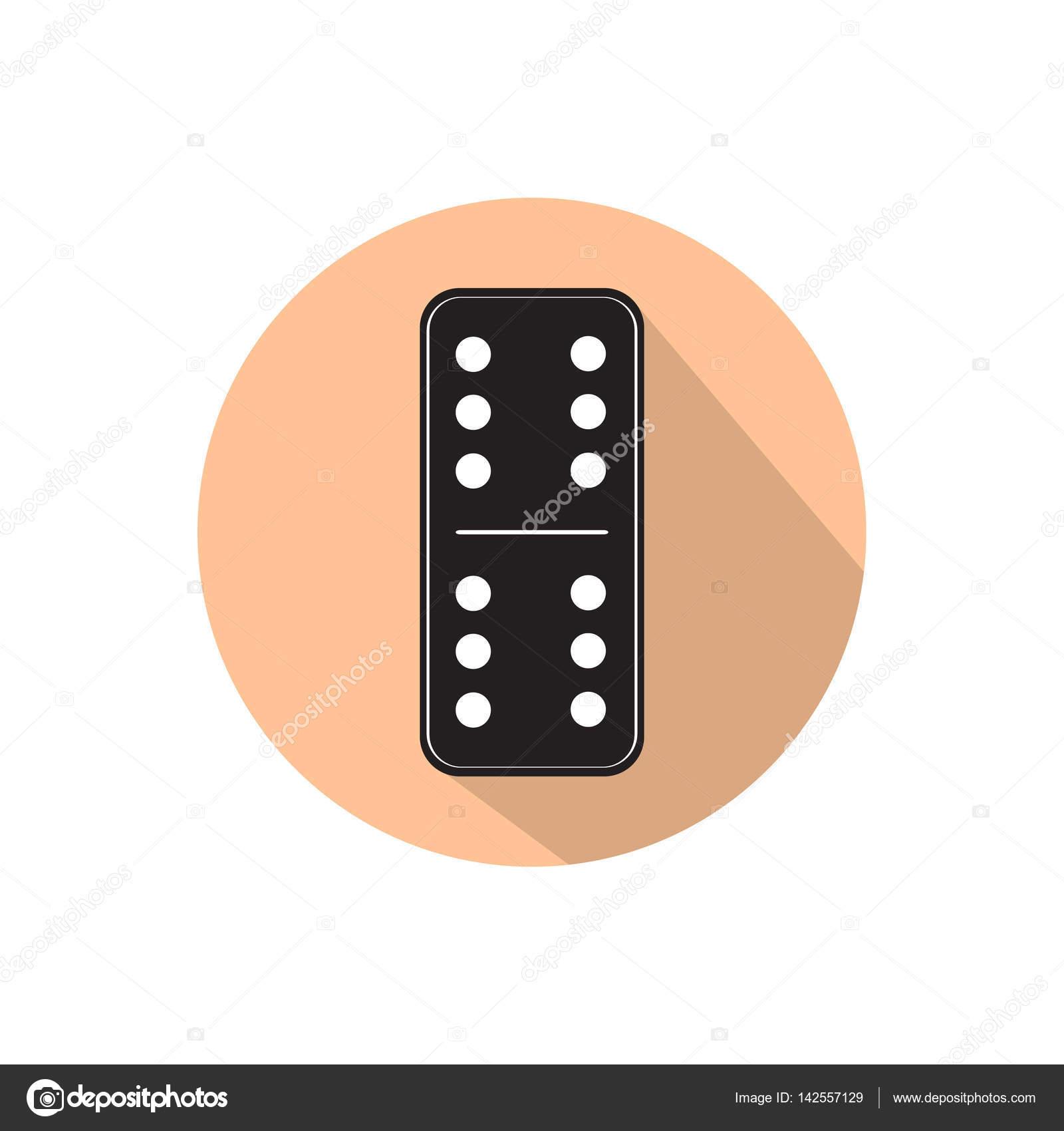 Fichas de domin aislado sobre fondo blanco archivo for Fichas de domino