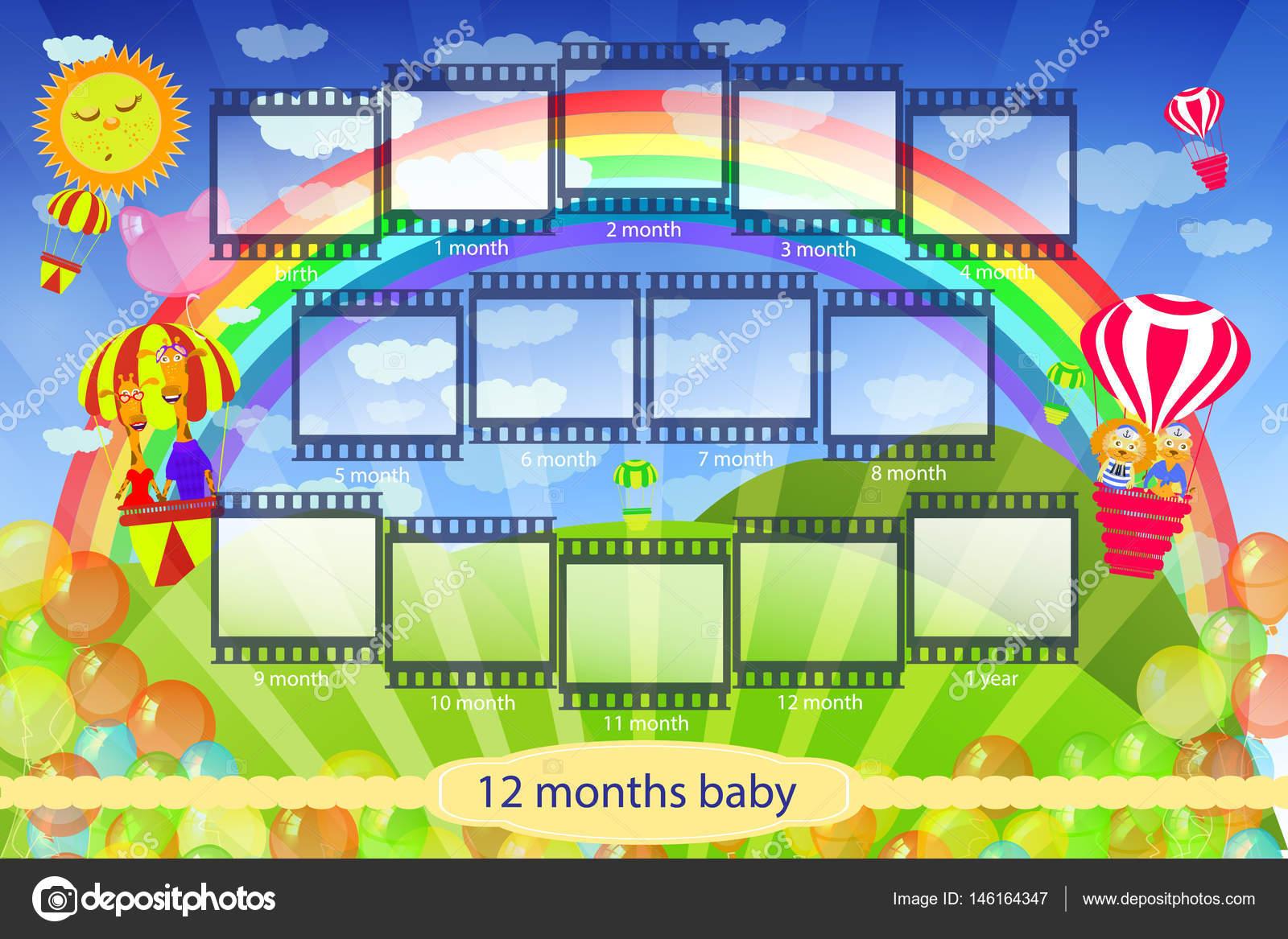 Marco para los cuadros de película infantil — Vector de stock ...