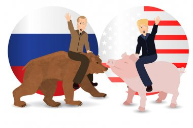 Donald Trump and Vladimir Putin are riding