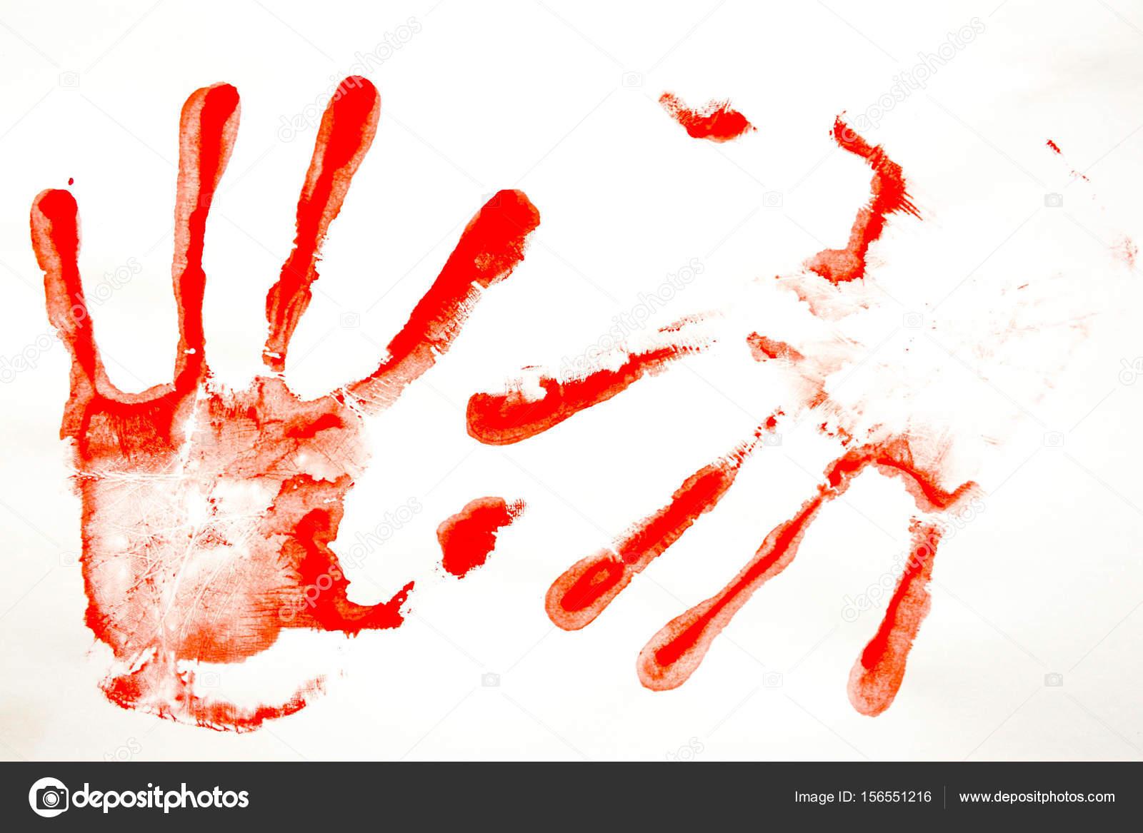 vörös vér foltok a kezek fénykép