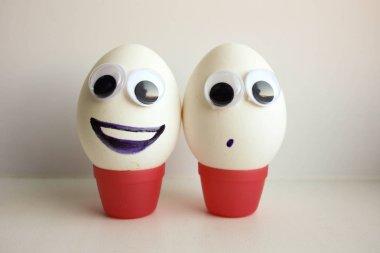 Friendship concept. Eggs
