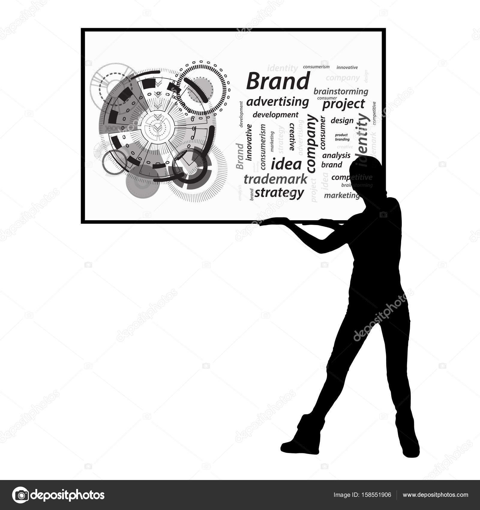 Concepto de marca. Inscripciones en el marco de la — Archivo ...