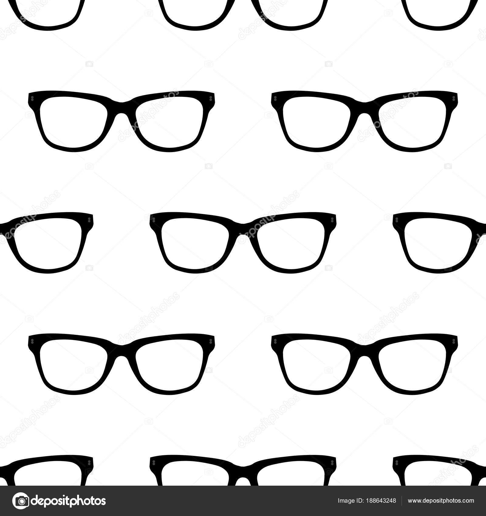 Patrón transparente con negro lentes de Hipster. Textura de las ...
