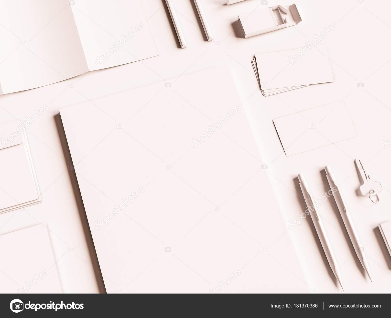 Corporate Mockup Bürogestaltung. 3D illustration — Stockfoto ...