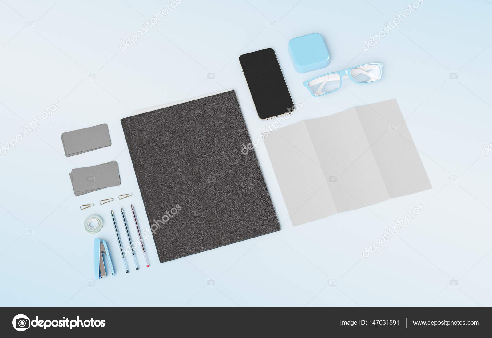 Products Branding Mockup Template Office Supplies Gadgets 3D Illustration High Quality Photo By Studiotan