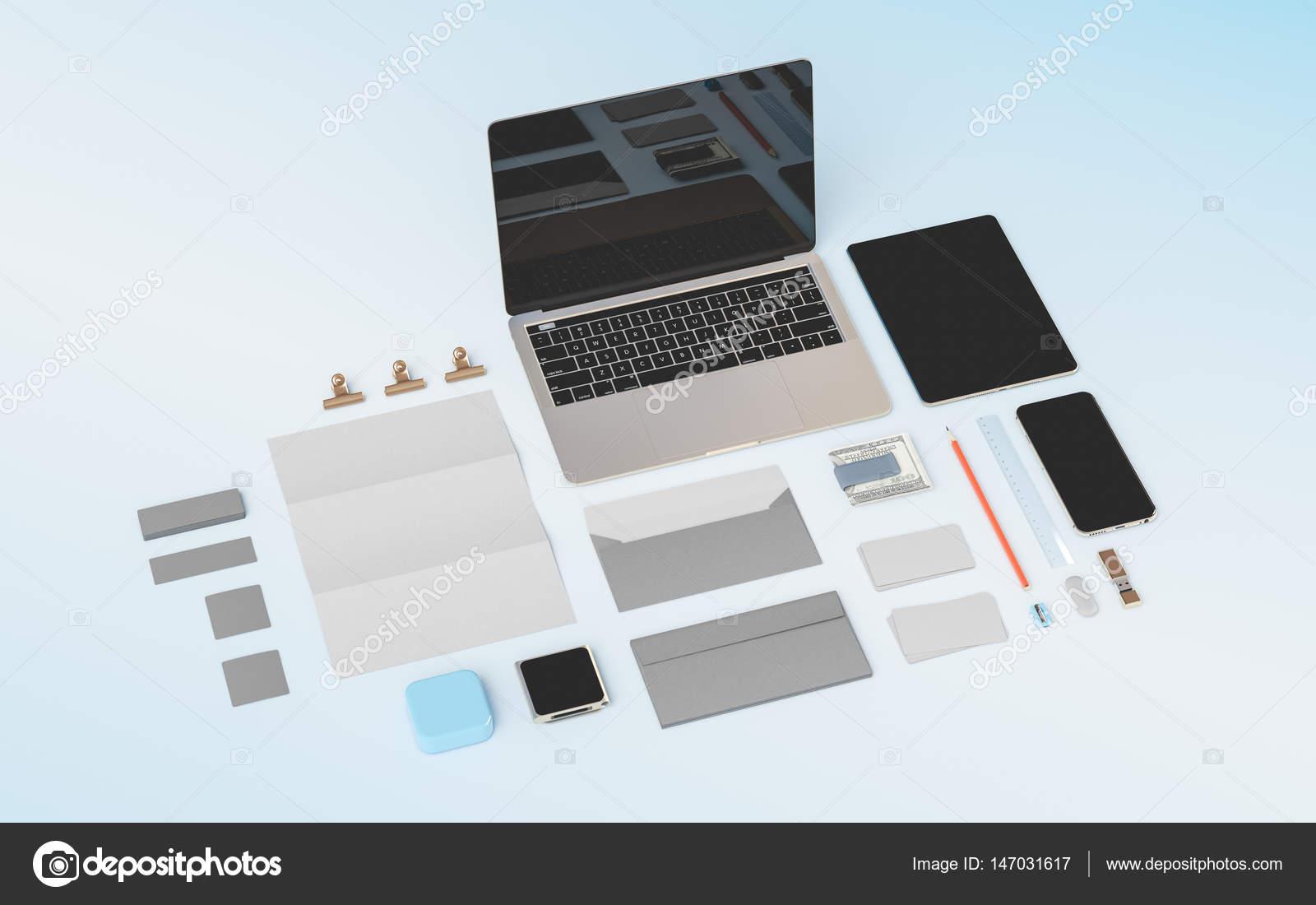 Forniture Per Ufficio : Prodotti a marchio modello mockup forniture per ufficio gadget