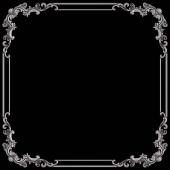 Chrome ornament na černém pozadí. Izolovaný