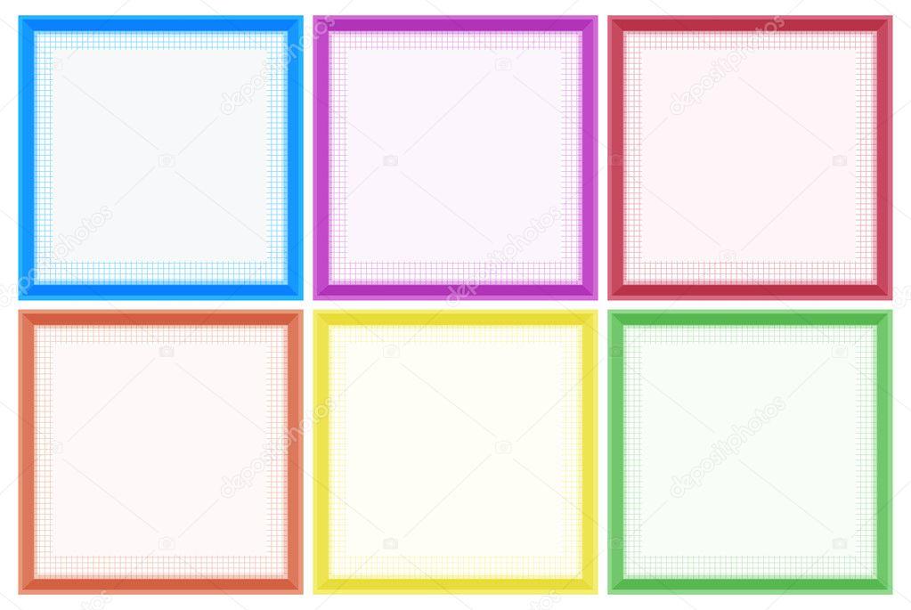 Plantilla de marco con bordes de colores — Archivo Imágenes ...