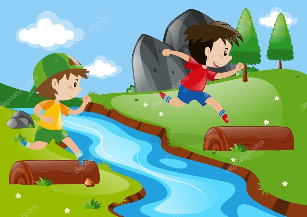 Dibujos: Niño Corriendo En El Parque Dibujo
