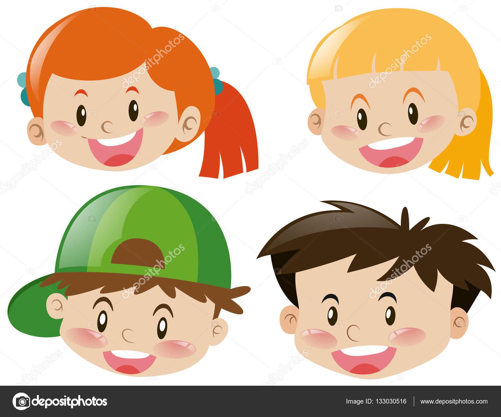 Dibujos Caras De Niños Felices Animadas: Fotos: Caras De Niños Felices