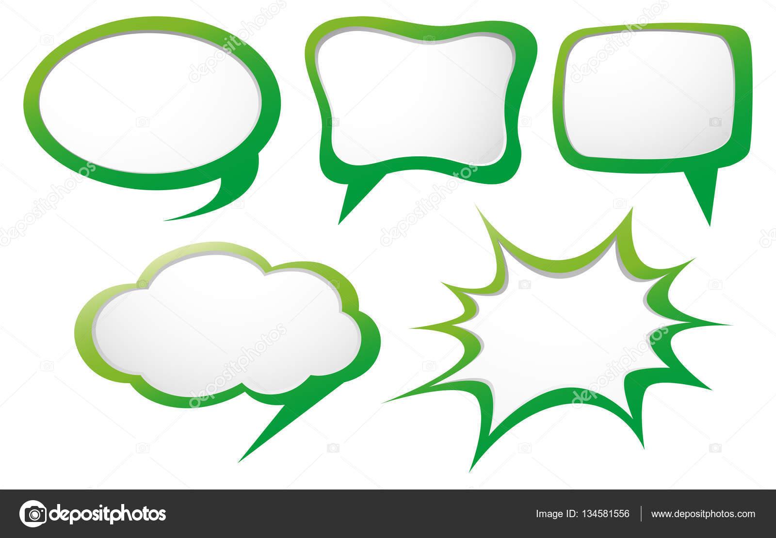 speech bubble template with green frame stock vector brgfx
