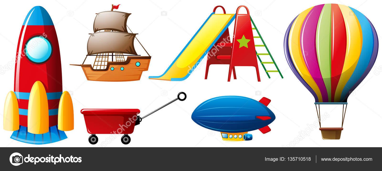 Diversi tipi di trasporti e giocattoli vettoriali stock - Diversi tipi di trecce ...