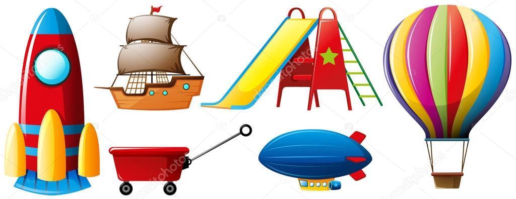 Diversi tipi di trasporti e giocattoli vettoriali stock brgfx 135710518 - Diversi tipi di figa ...