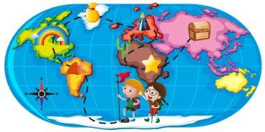 Kids exploring the world