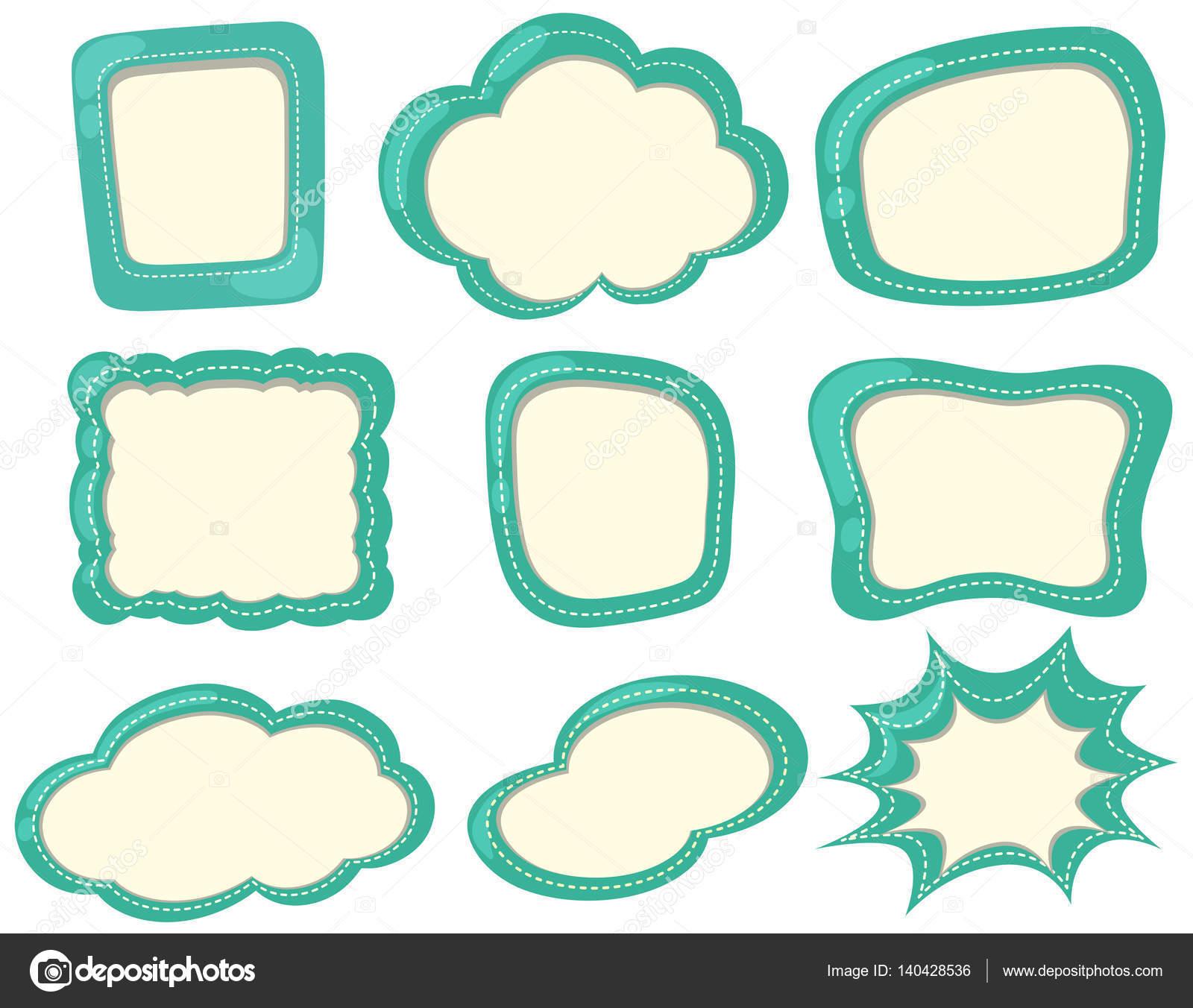 Modèles Détiquette En Couleur Verte Image Vectorielle