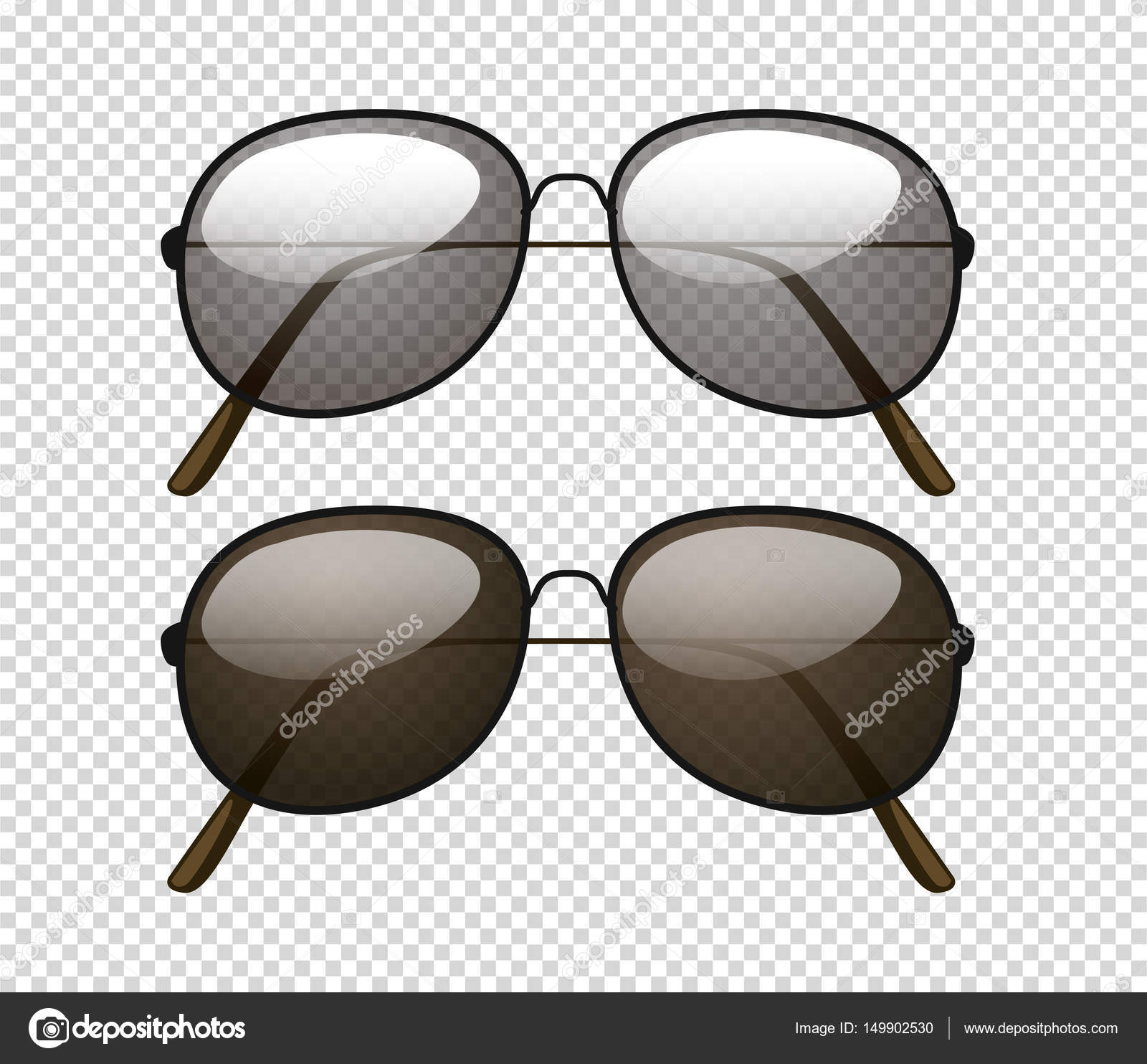 a199e804817ad Duas diferentes cor da lente dos óculos de sol — Vetor de Stock ...