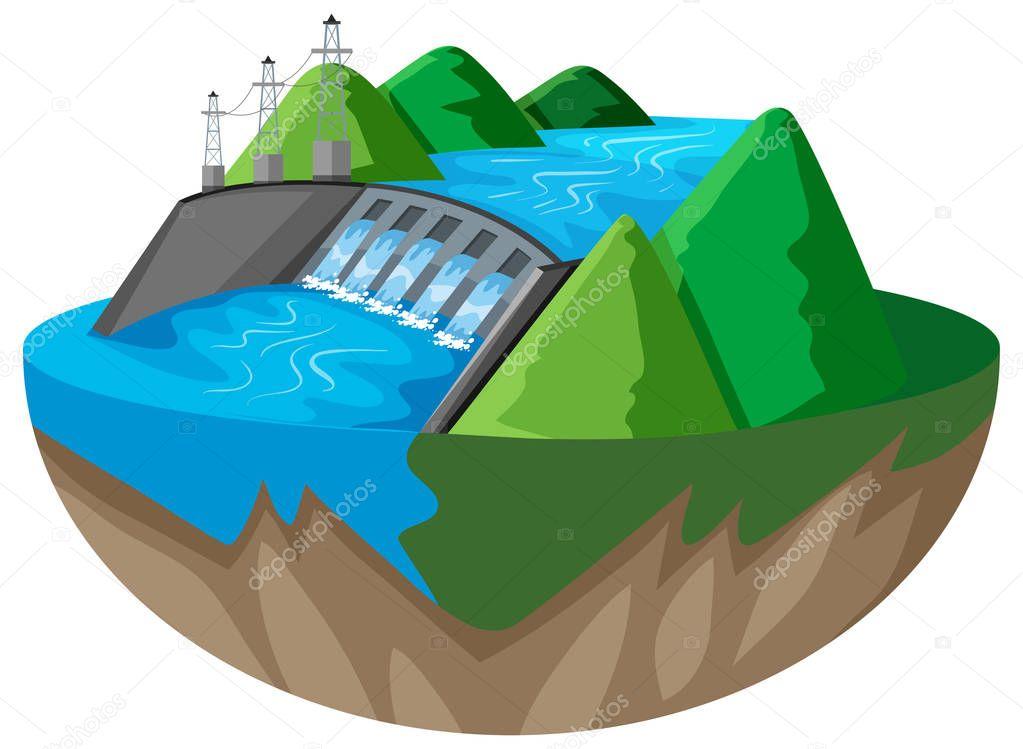 Progettazione 3d per la diga della montagna vettoriali for Progettazione 3d gratis