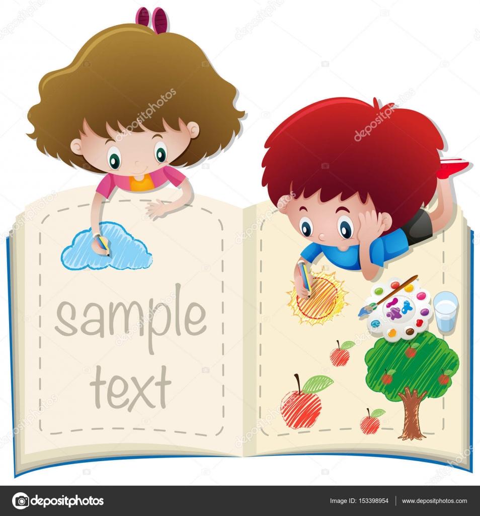Coloriage Fille Avec Modele.Modele De Papier Avec Le Garcon Et Fille A Colorier Image