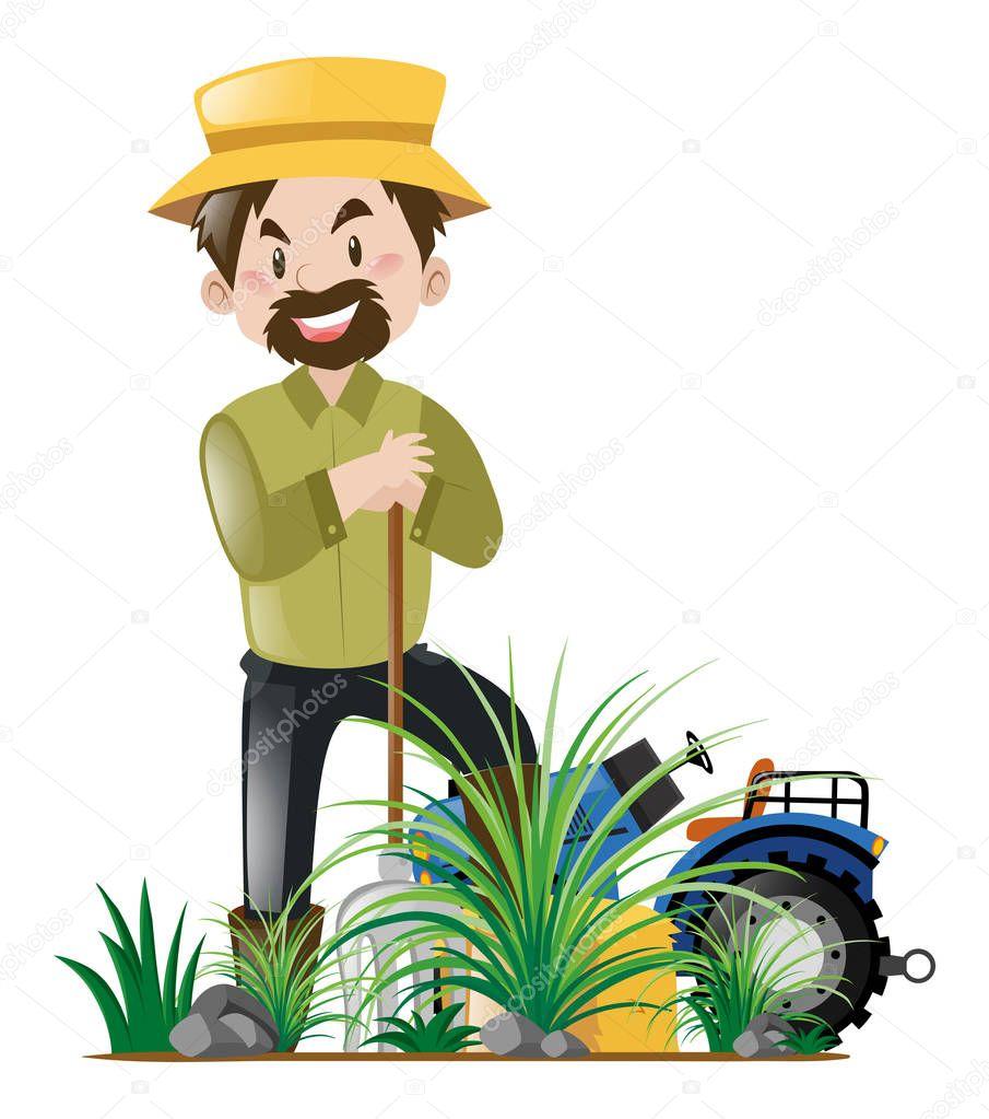 G rtner im garten arbeiten stockvektor brgfx 153881878 for Garten arbeiten