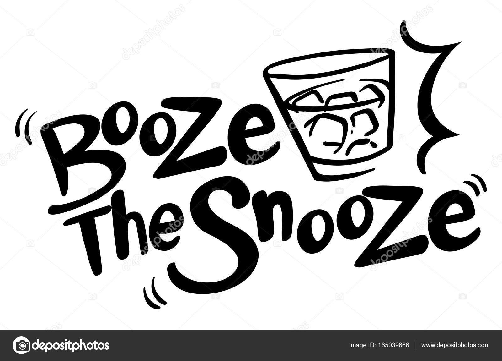 Frase Inglesa Para Alcohol El Snooze Vector De Stock