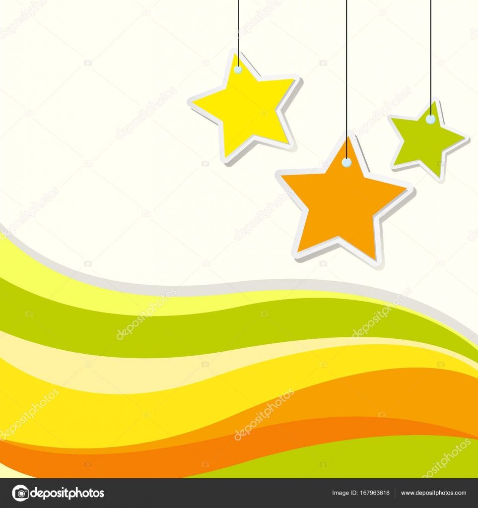 星と黄色の波線の背景デザイン — ストックベクター © brgfx #167963618