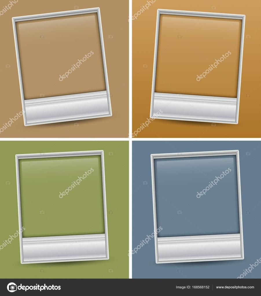 4 Bilderrahmen auf andere Farbe Hintergrund — Stockvektor © brgfx ...