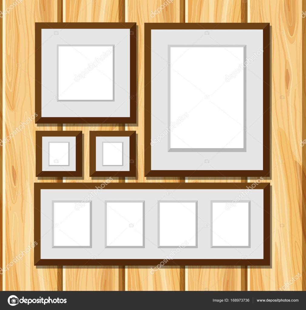 Quadratischen Rahmen auf Holzwand — Stockvektor © brgfx #168973736