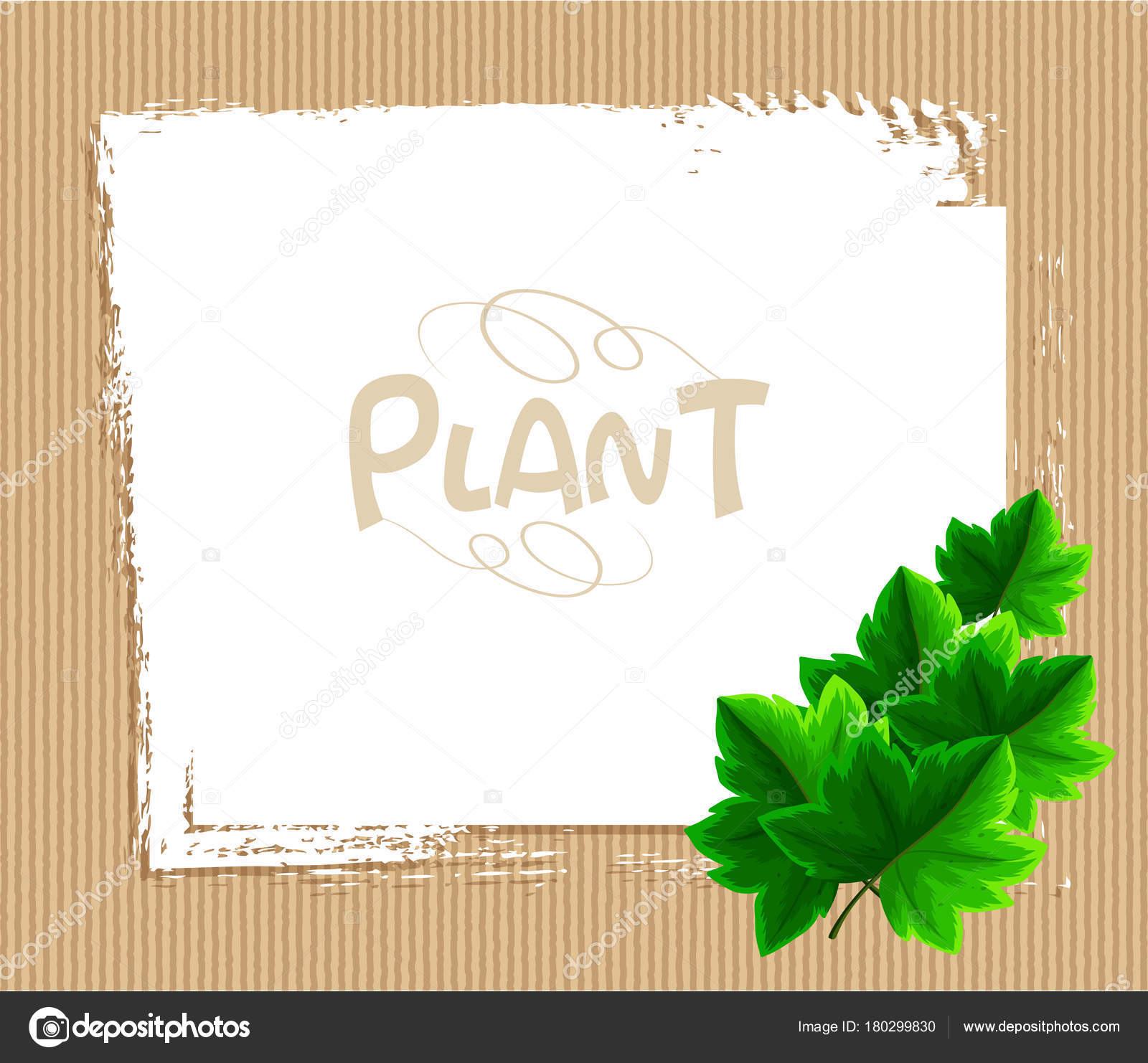 Border Template With Ivy Leaves Illustration Vector By Brgfx