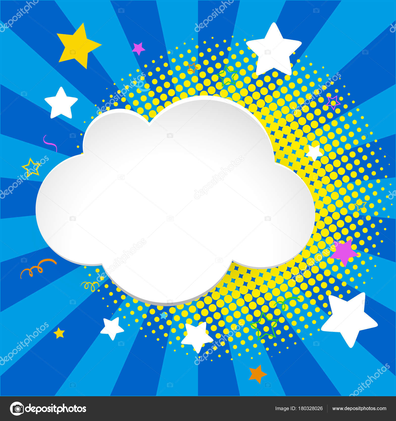 border template with clouds and stars stock vector brgfx 180328026