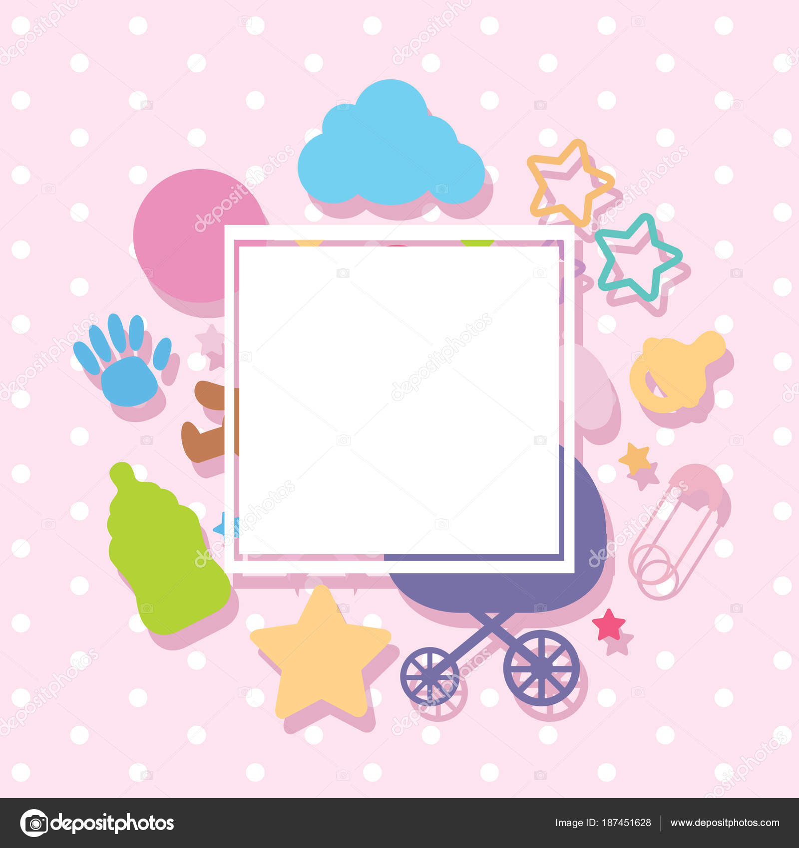 baby border template