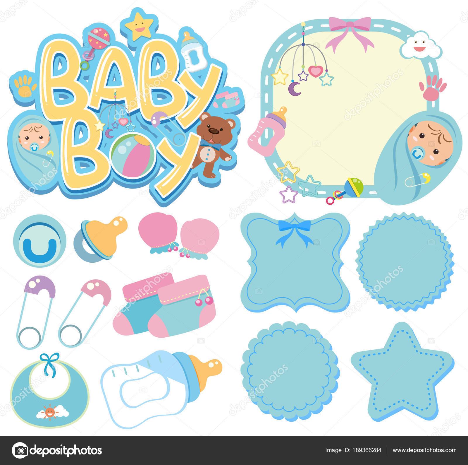 banner templates for baby boy stock vector brgfx 189366284