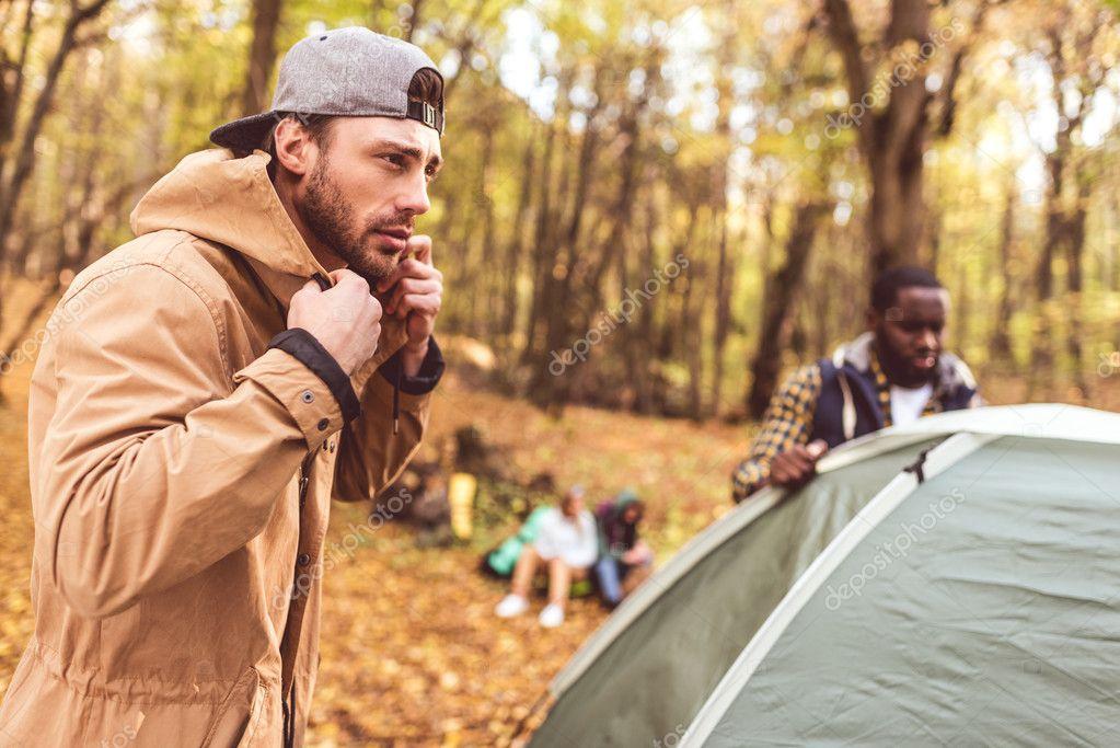 Pitching the tent men com
