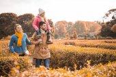 Fotografie šťastná rodina v parku