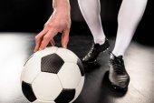 Fotografie fotbalový hráč s míčem