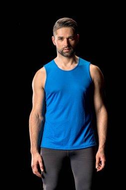 Athletic man in sportswear