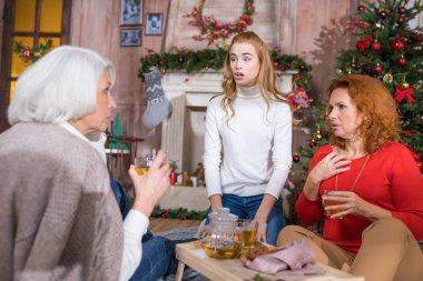 Family having tea time
