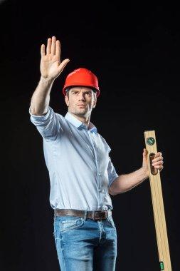 Male engineer in hard hat