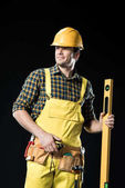 Építőmunkás, szintje eszközzel