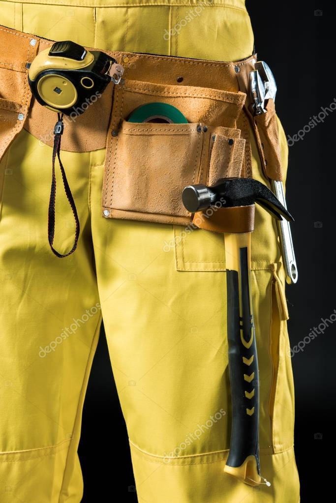 Workman in tool belt