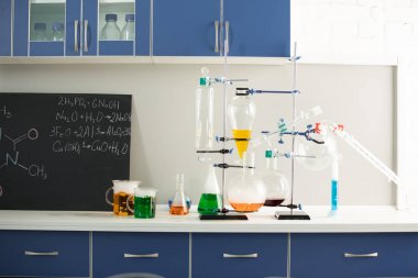 Reagents in science laboratory