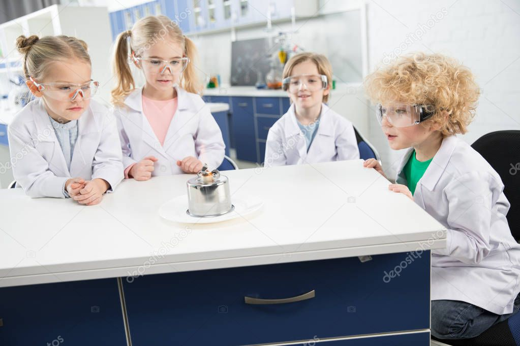 Kids making experiment