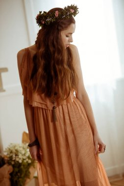 Young woman in boho style